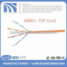 1000FT 0.5CU HDPE UTP Cabo Cat5e Lan