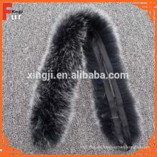 Damen Mantel Fuchspelz Streifen Pelzbesatz