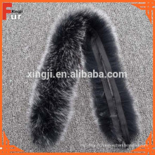 Mesdames manteau fourrure de renard bandes fourrure garniture