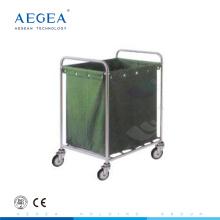 AG-SS013 Suspendierung Tasche Edelstahl Material schmutzige Wäschewagen mit Rädern