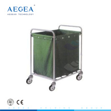 AG-SS013 suspending bag stainless steel material dirty laundry trolley with wheels