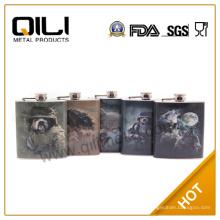 6 унций CMYK печать подарок фляга личные из нержавеющей стали для мужчин
