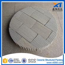 Embalagem de torre química de embalagem de cerâmica estruturada