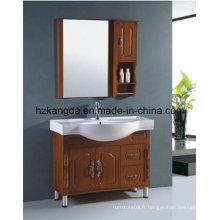Cabinet de salle de bain en bois massif / vanité de salle de bain en bois massif (KD-449)