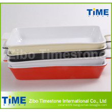 Rectangular Color Glazed Ceramic Bakeware (TM-1123)