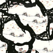 Custom Designs Silk Digital Print Chiffon Fabric (TLD-0057)