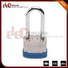 Elecpopular Fábricas Wenzhou Blue color Segurança Rigid Steel 34mm Lock Body Long Shackle lock