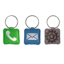 Embroidered Key Rings - Fun APP