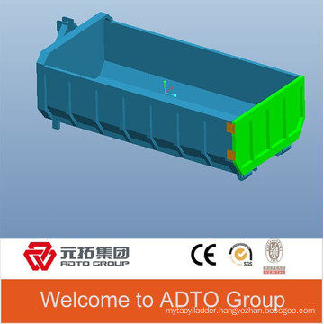 Customize 3ft height hook lift open top container
