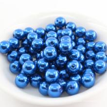 Ambiental suelto podría personalizar la venta al por mayor grande del agujero recto todo tipo de perlas plásticas redondas de la perla del ABS