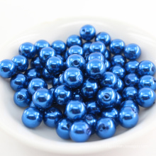 Environmental loose could customize straight hole large wholesale all kinds of round ABS plastic pearl beads