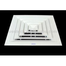 4 way Aluminum ceiling air diffuser