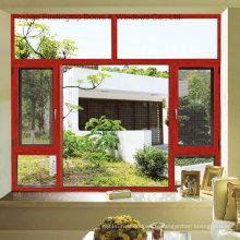 Fenêtre à battants en aluminium à coupure thermique avec isolation thermique (FT-W135)