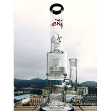 Wholesale 2 Birdcages and Showerhead Perc Glass Water Pipe