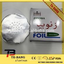 Hookah hojas de aluminio para el tabaco con bajo precio