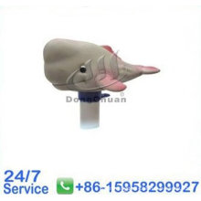 Gray Whale Round Thermometer With Different Animals, Swimming Pool Water Thermometer   - T381g