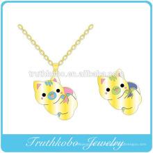 2016 высокое качество новые Оптовая продажа позолоченные красочные эмаль сексуальный кулон животное Ожерелье для jewelrys девочек