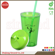 650ml BPA Free Plastic Acrylic Cup with Straw (TB-B501)
