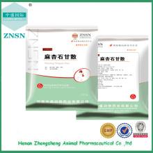 Type d'animal Maxingshigan pour traiter toutes sortes de maladies respiratoires