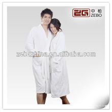 100% Algodón Diferentes tamaños disponibles de alta calidad de terciopelo de lujo Spa Bathrobes