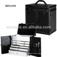 custom hair stylist case metal with 7 drawers inside