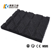 Agricultural Livestock Anti Slip Stable Square Pattern Alley Rubber Floor Cow Mat