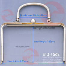 High Class Grand Gold Colour Bag Handle Clutch for Women Bag
