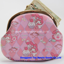 Pink Neoprene Mini Money Bags