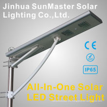 Muestra gratuita All in One integrada Luz de calle solar LED