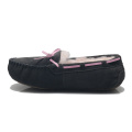 women suede sheepskin moccasin warm slippers