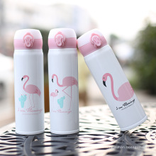 Flamingo Theme Fashion - Botella de agua de acero inoxidable