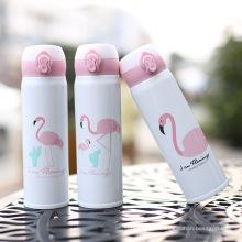 Flamingo Theme Fashion Bouteille d'eau en acier inoxydable
