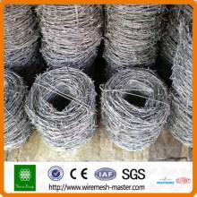 Melhor preço fabricante de arame farpado galvanizado / PVC revestido (fábrica ISO direto)