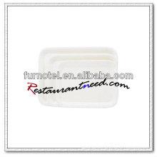Bandeja de exibição de melamina branca pura V287