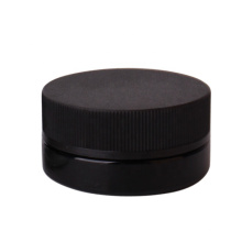 cosmetic packaging container 20ml black glass jar with child resistant cap