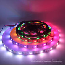 Адресный dc5v сила Сид 32leds/м RGB волшебный сон цвет ws2801 светодиодные полосы