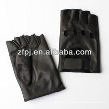 Manera del motor Conduciendo los guantes de cuero del dedo medio llanos