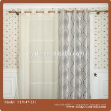2016 vente chaude 100% polyester rideau rideau de fenêtre design
