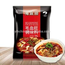 Sichuan sabor local Pote quente Tempero para Duckblood com molho de pimentão