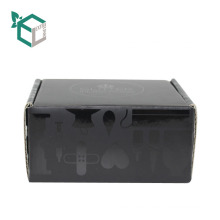 High Quality Black Color Cardboard Paper corrugated E-flute Box Packaging Storage hollow Gift Box Packaging Box