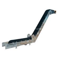 Transportador de cinta corrugada de gran inclinación para arena de carbón