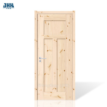JHK 3 Panel Knotty Pine Wood Door