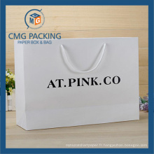 Carte blanche élégante imprimée par coutume de sac de papier pour le vêtement