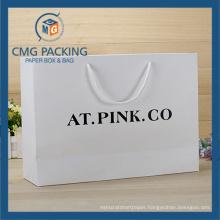 Custom Elegant Printed Paper Bag White Card for Garment