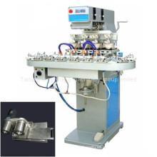 Máquina de impresión de almohadillas de bajo voltaje de 4 colores con cinta transportadora