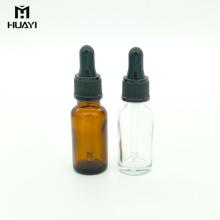 bouteille en verre ambre d'huile essentielle vide personnalisable de 20ml avec le compte-gouttes