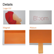 Orange Paper Interior Logo Embossed Folding Paper Box