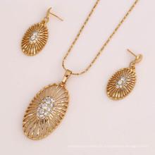 Heißer Verkauf der Art und Weise 61819 indischer schöner weißer Diamant überzog Schmucksachen Halskette und Ohrring