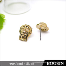 2016 Fashionjewelry Gold Buddha Stud Earrings for Wholesale #2659