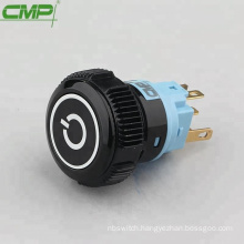 CMP SPDT momentary or latching 22mm black plastic power switch